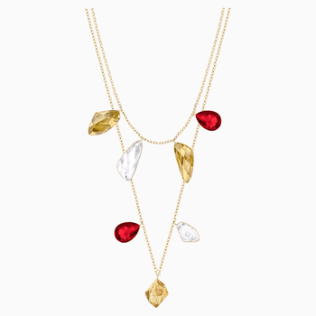 Prisma Versatile Necklace, Multi-colored, Gold-tone plated