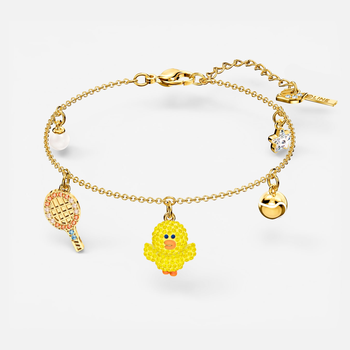 Line Friends Tennis Bracelet, Light multi-colored, Gold-tone plated