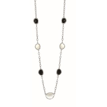 Sterling Silver .205ct. Dia Gem Candy Necklace