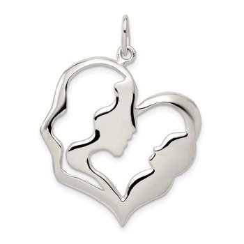 Sterling Silver Mother & Baby Pendant