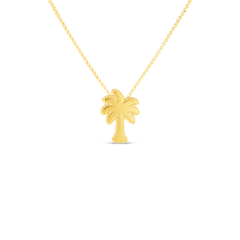 18KT GOLD PRINCESS PALM TREE PENDANT
