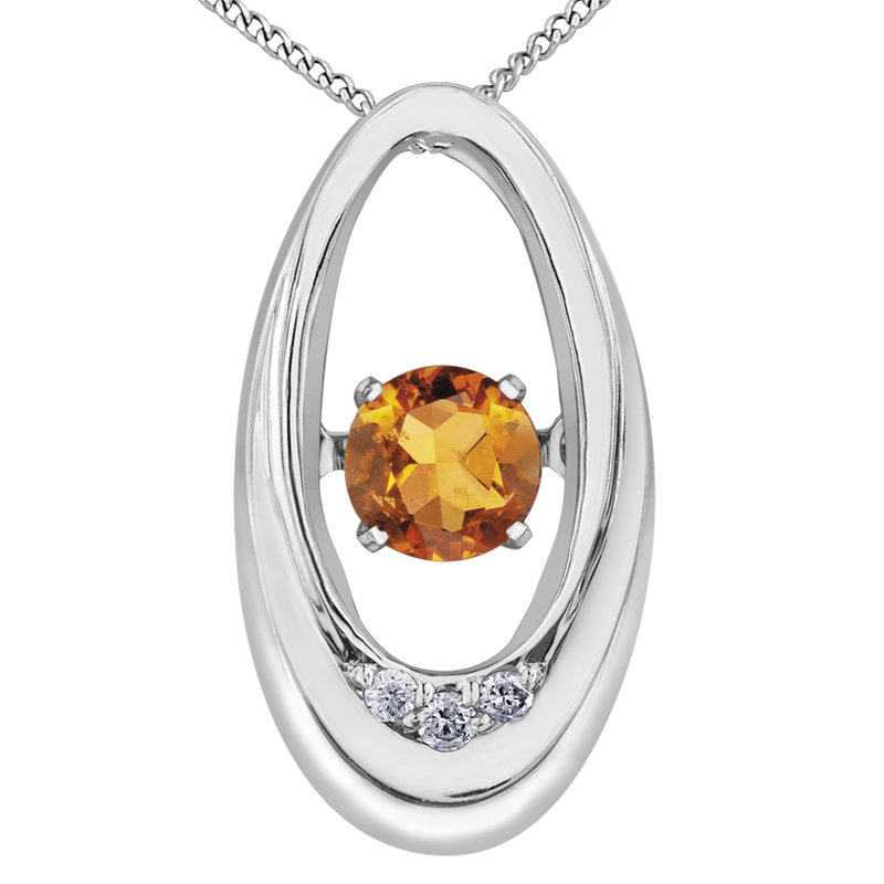 Diamond Wishes Citrine Pendant