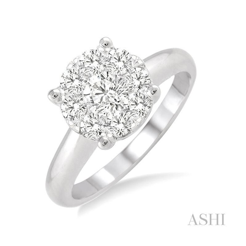 ASHI lovebright essential diamond ring