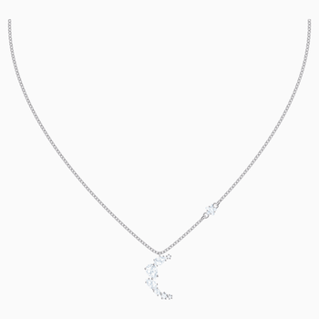 Penélope Cruz Moonsun Necklace, White, Rhodium plated