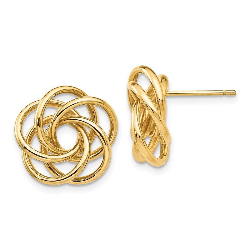 Quality Gold 14k Polished Love Knot Post Earrings