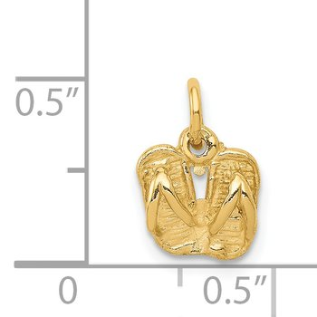 14k Solid Polished Sandals Charm