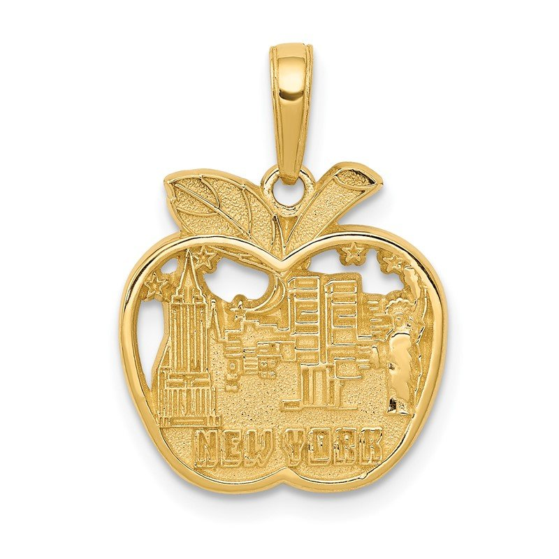 Quality Gold 14k NEW YORK City Skyline in Apple Pendant
