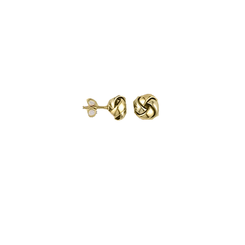 18KT GOLD KNOT EARRINGS