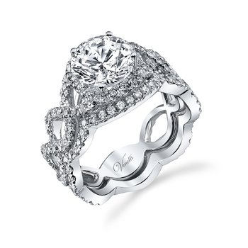 14K W SET RING 139RD 1.15CT
