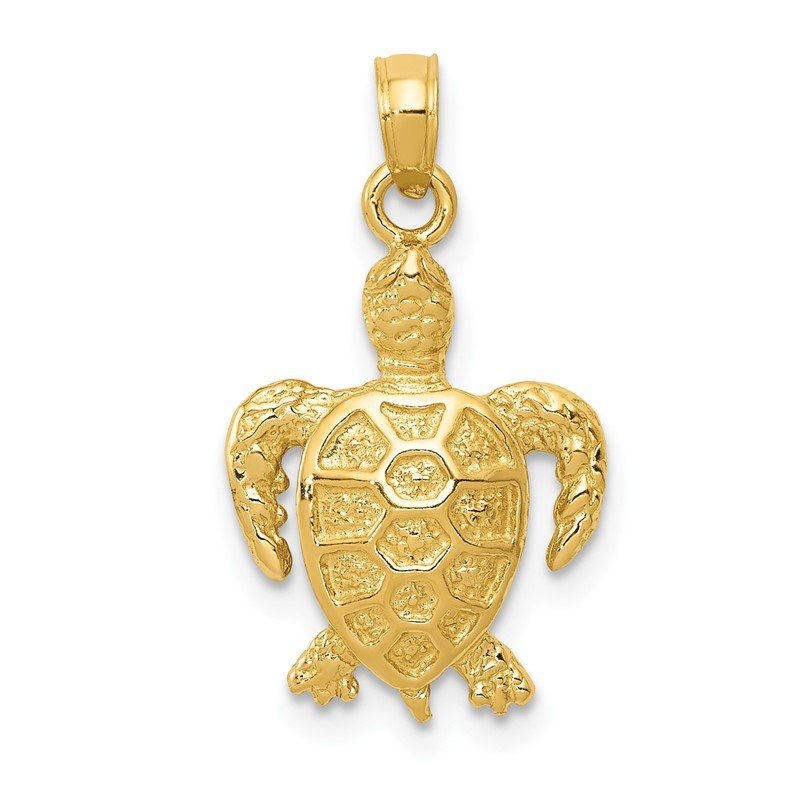 Quality Gold 14k Sea Turtle Pendant