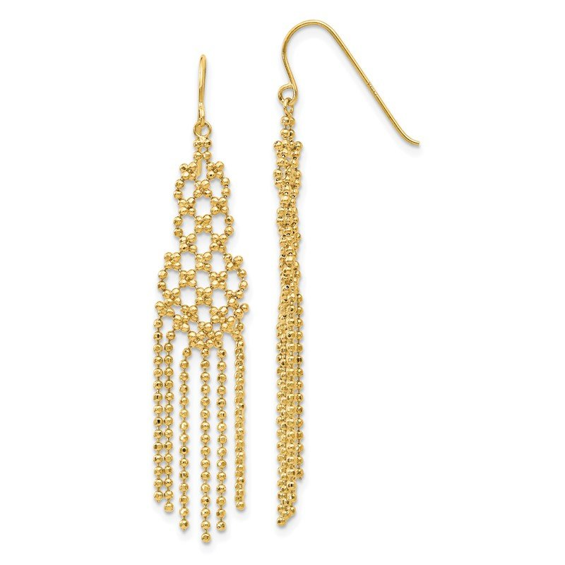 Quality Gold 14K Bead Chain Earrings