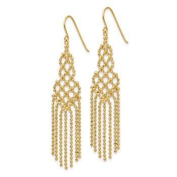 14K Bead Chain Earrings