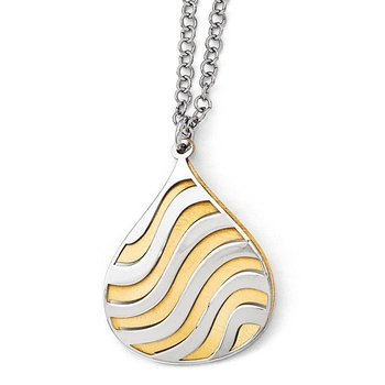 Leslie's Sterling Silver Gold-plated Matte w/2in ext. Necklace