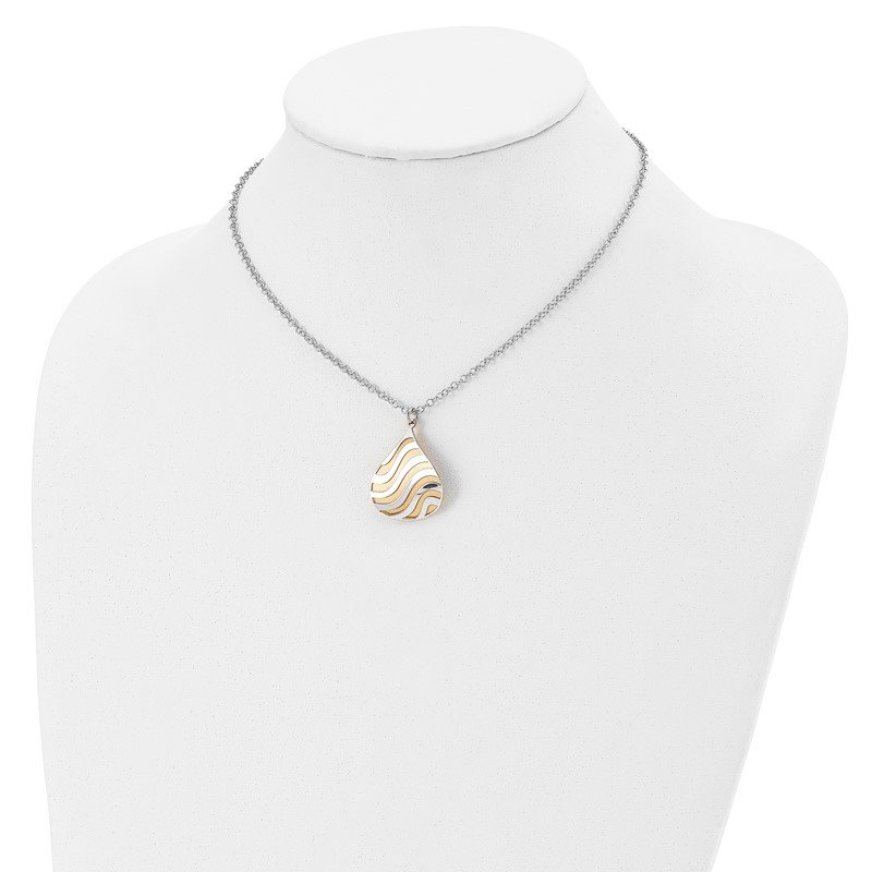Leslie's Leslie's Sterling Silver Gold-plated Matte w/2in ext. Necklace