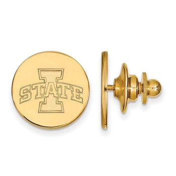 Gold-Plated Sterling Silver Iowa State University NCAA Lapel Pin