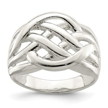 Sterling Silver FancyCeltic Pattern Woven Ring