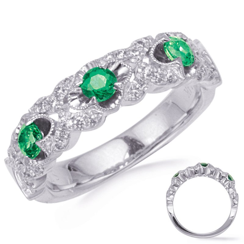 Briana White Gold Tsavorite & Diamond Ring