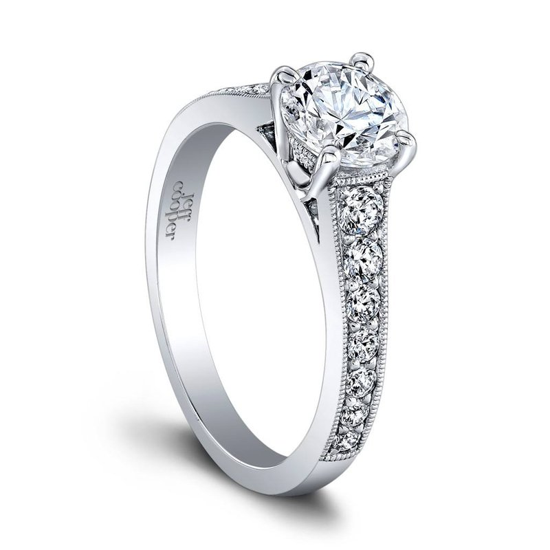 Jeff Cooper Honey Engagement Ring