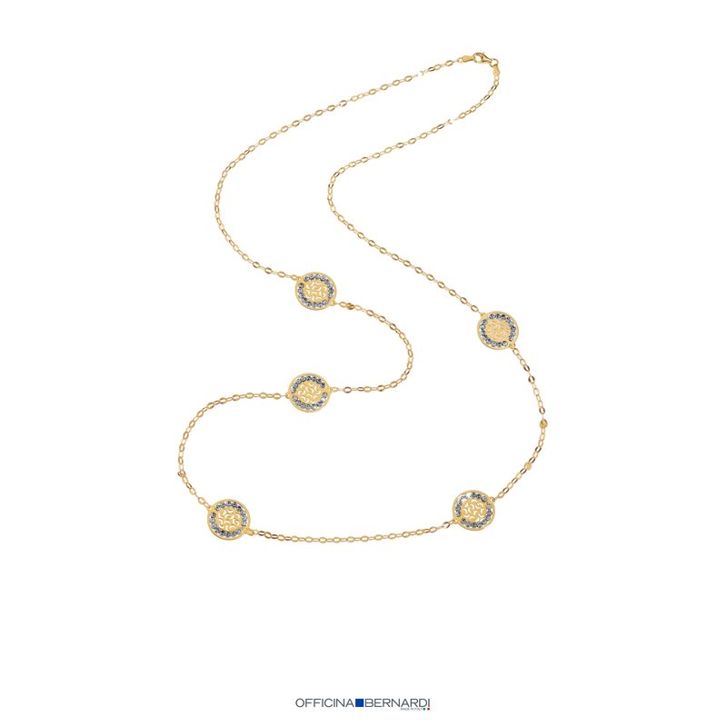 "Officina Bernardi 34""STATION NECKLACE"