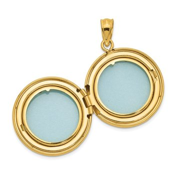 Sterling Silver 20mm Gold-plated Polished Diamond Accent Round Locket