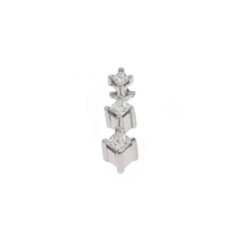 S. Kashi  & Sons Three Stone Diamond Pendant