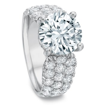 18K White gold Semi Mount for 2.00-4.00 ct center