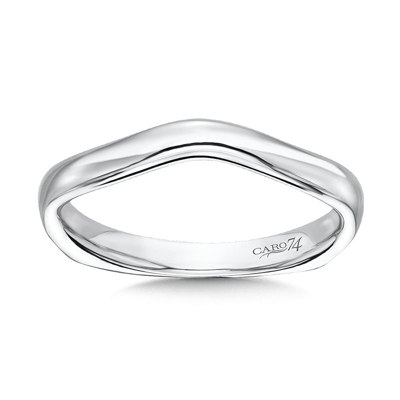 Caro74 Wedding Band in 14K White Gold