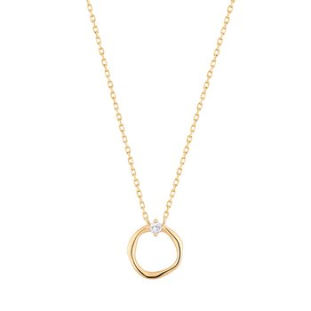 LILLIAN | Diamond Circle Necklace