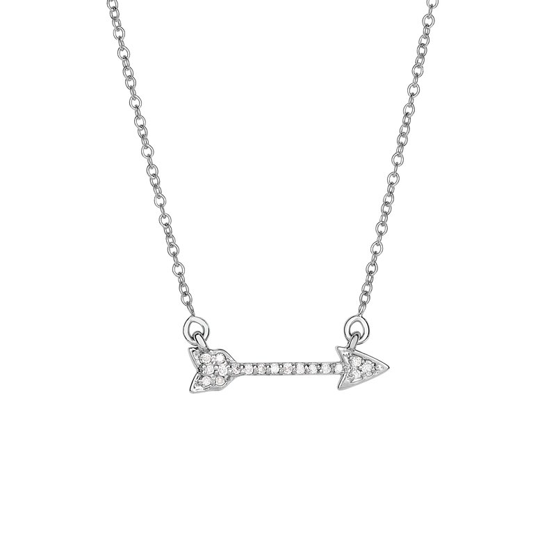 Royal Chain 14K Gold .10ct Diamond Arrow Necklace