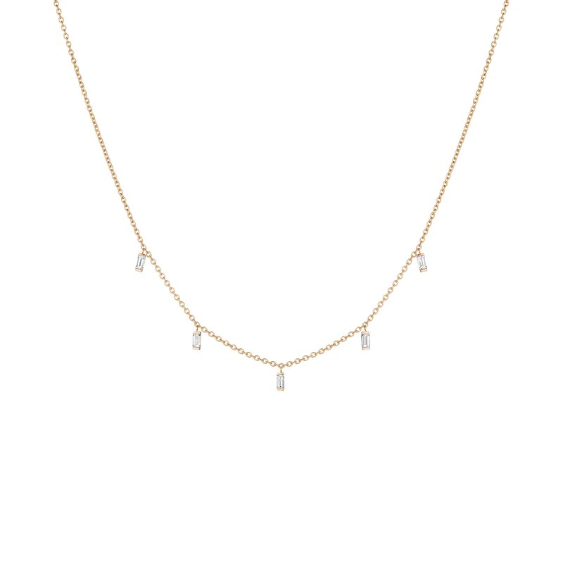 Penny Preville Baguette Moderne Layering Chain Necklace