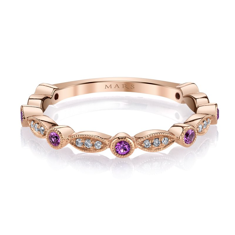MARS Jewelry MARS 26935RGPS Stackable Ring, 0.06 Dia, 0.16 P Saph.