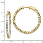 JC Sipe Essentials 14k Diamond Round Hoop w/Safety Clasp Earrings