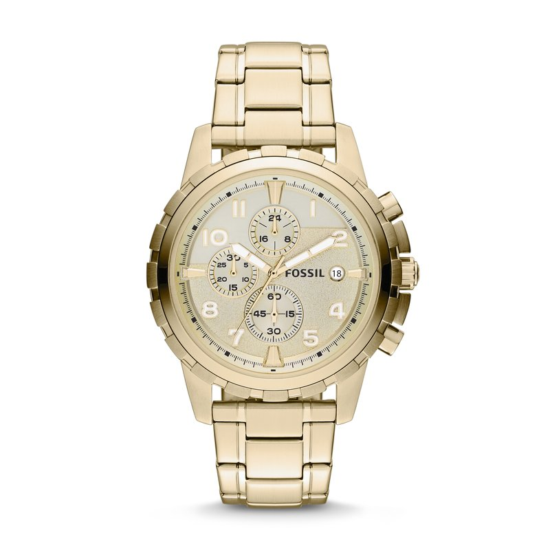 Fossil Dean Chronograph Gold-Tone Stainless Steel Watch