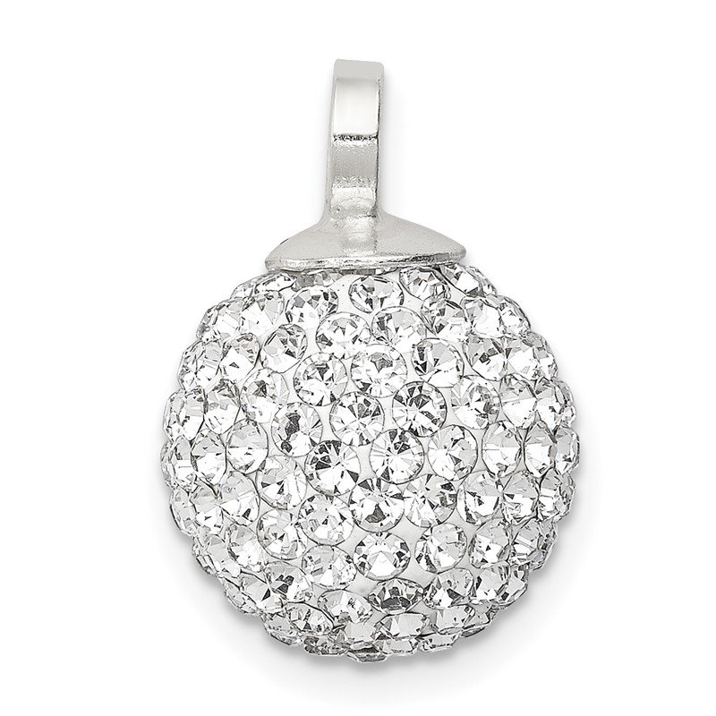 Quality Gold Sterling Silver Stellux Crystal 12mm Ball Pendant