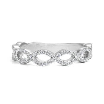 Open Twist Diamond Wedding Band