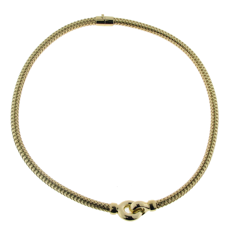 Roberto Coin  #26565 Of 18Kt Gold Flexible Collar