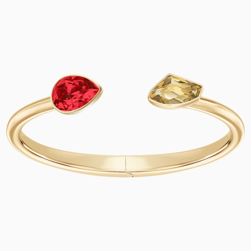 Swarovski Prisma Bangle, Multi-colored, Gold-tone plated