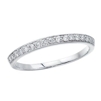 14K White Gold Prong Set Diamond Band Ring
