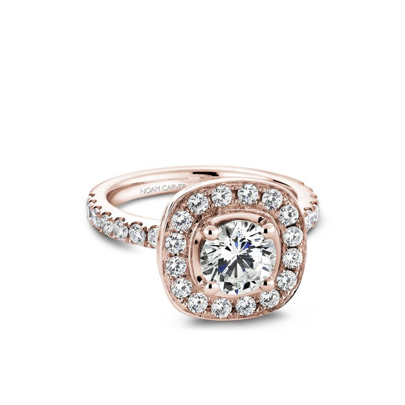 Noam Carver Cushion Shaped Halo Engagement Ring