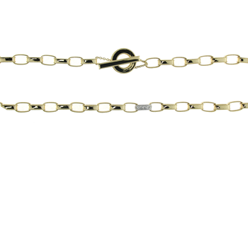 18Kt Princess Open Link Chain W. 1 Dia Link