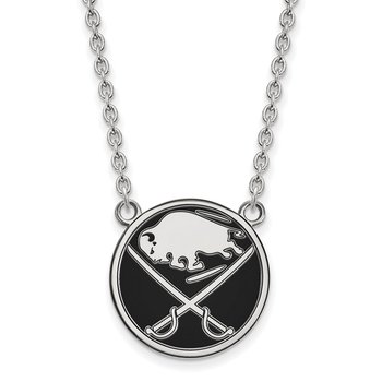 Sterling Silver Buffalo Sabres NHL Necklace