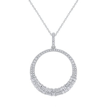Diamond Metropolis Circle Pendant Set in 14 Kt. Gold