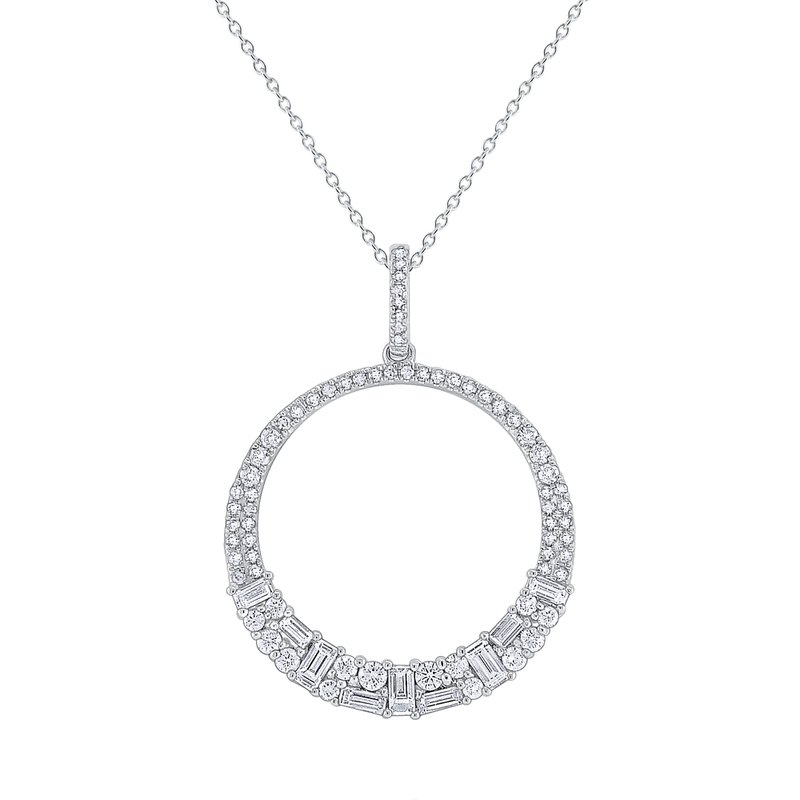 KC Designs Diamond Metropolis Circle Pendant Set in 14 Kt. Gold