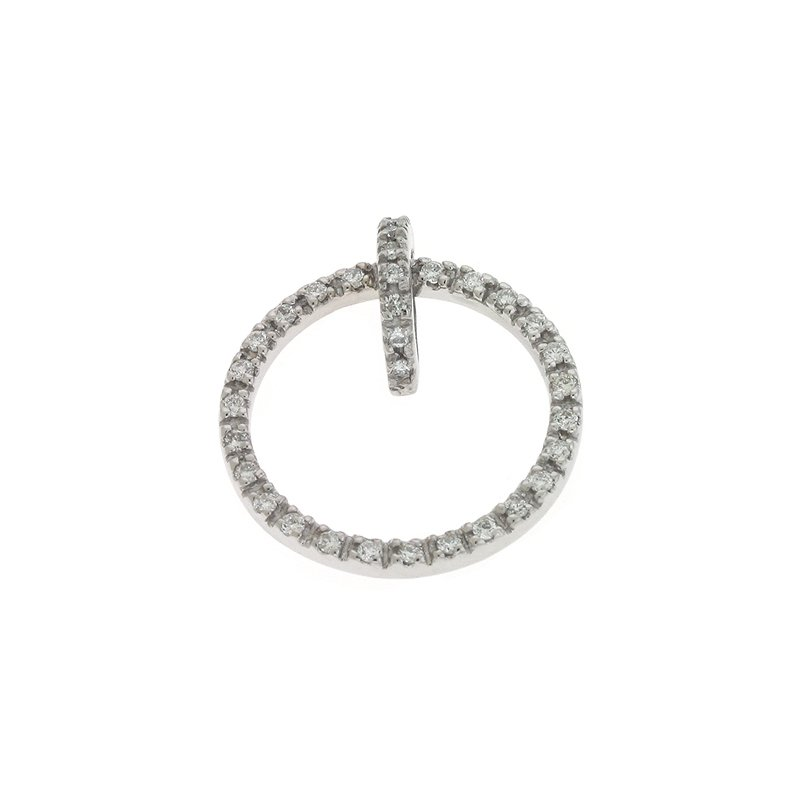 S. Kashi  & Sons White Gold Circle Pendant