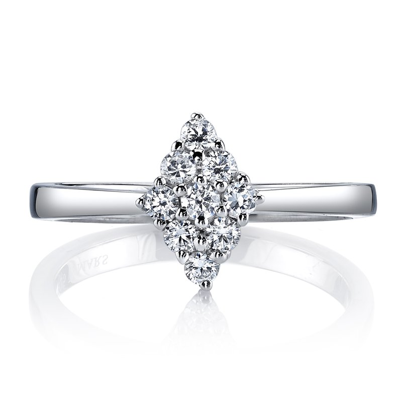 MARS Jewelry MARS 26144 Diamond Engagement Ring, 0.32 Ctw.