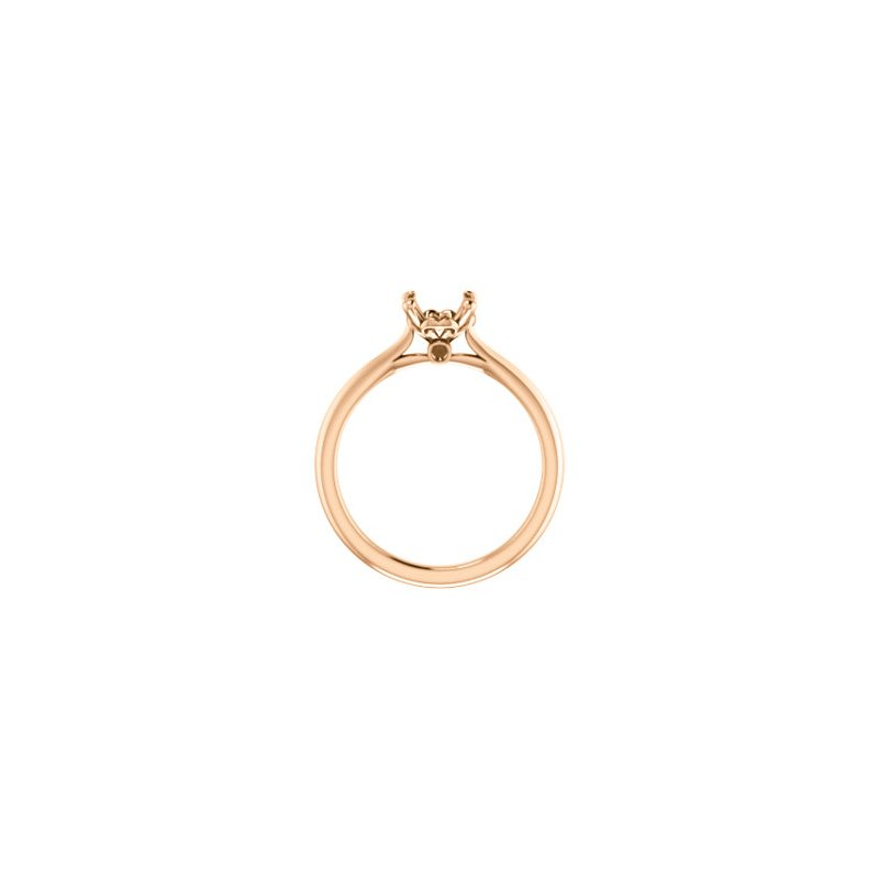 Stuller 18K Rose 7 mm Round Engagement Ring Mounting