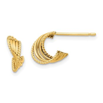 14K Twisted Post Earrings