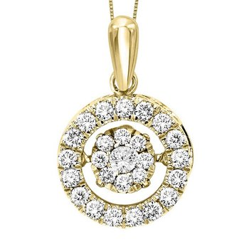 10KY Diamond Rhythm Of Love Pendant 1/2 ctw