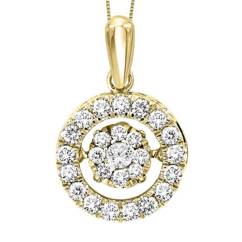 Rhythm of Love 10KY Diamond Rhythm Of Love Pendant 1/2 ctw