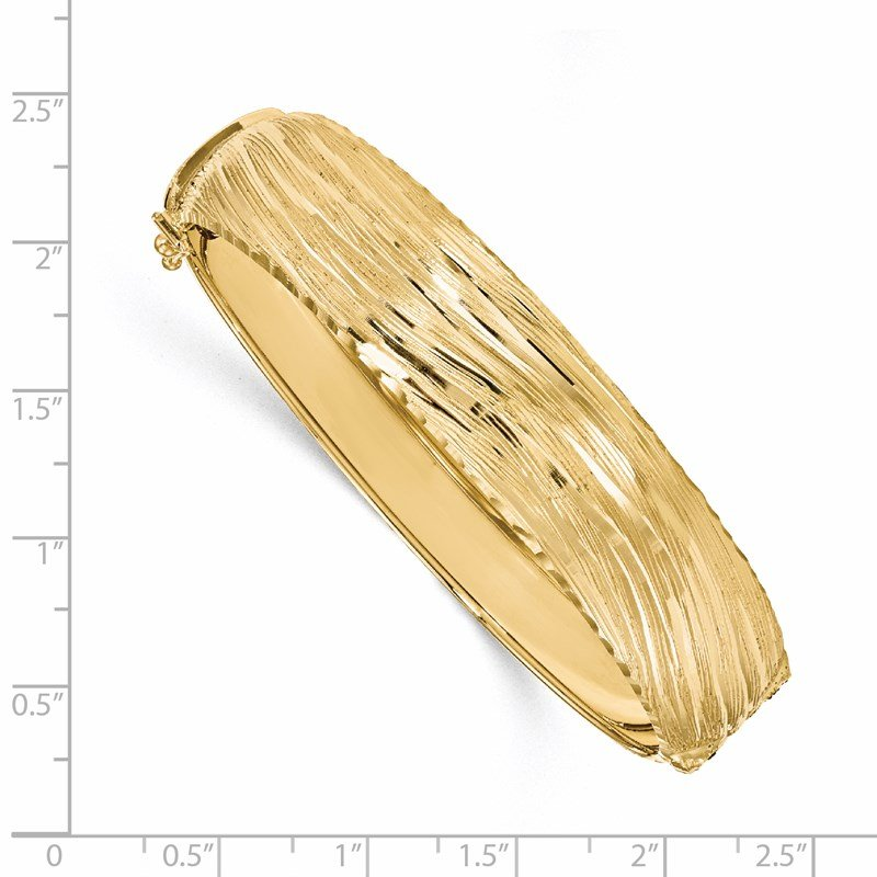 Leslie's Leslie's 14K Polished Textured Bangle